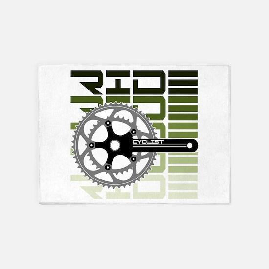 cycling-03 5'x7'Area Rug