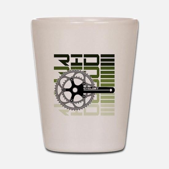 cycling-03 Shot Glass