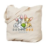 Devon rex Canvas Totes