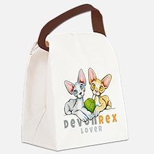 Devon Rex Lover Canvas Lunch Bag
