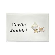 Garlic Junkie Rectangle Magnet