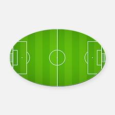 Soccer Field Oval Car Magnet