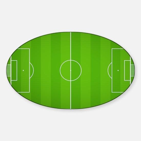 Soccer Field Sticker (Oval)