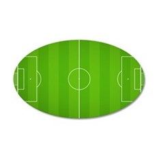 Soccer Field 35x21 Oval Wall Decal