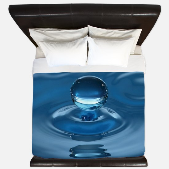 Blue Water Drop King Duvet