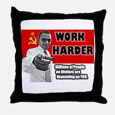 obamawork.png Throw Pillow