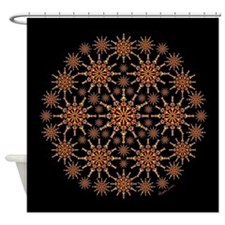 Hot Bones and Heart Prints Shower Curtain