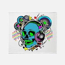 Skull DJ Throw Blanket
