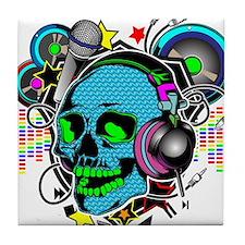 Skull DJ Tile Coaster