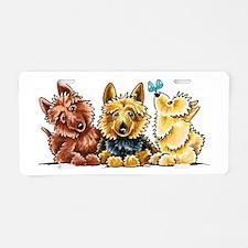 3 Australian Terriers Aluminum License Plate