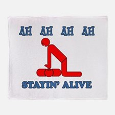 Stayin' Alive Throw Blanket