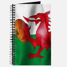 Welsh Dragon Rugby Ball Flag Journal