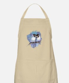 Cute Watercolor Lovebird Bird Nature Art Apron