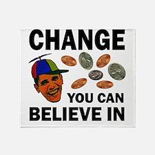 Change Believe Throw Blanket