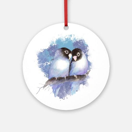 Cute Watercolor Lovebird Bird Nature Art Ornament