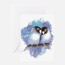 Cute Watercolor Lovebird Bird Nature Art Greeting