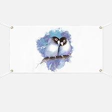 Cute Watercolor Lovebird Bird Nature Art Banner
