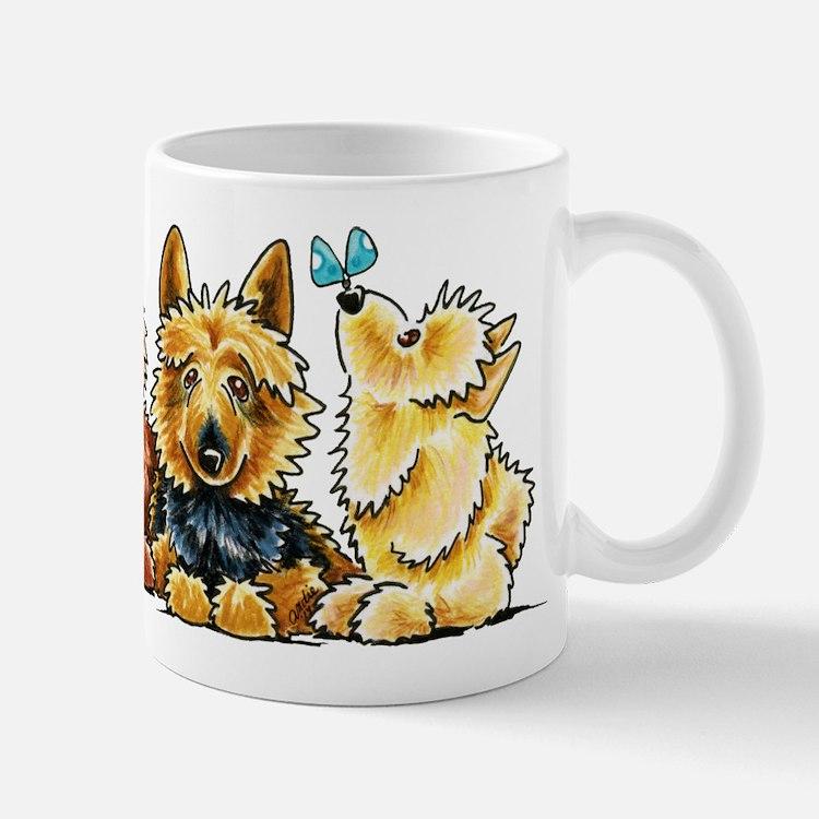 3 Australian Terriers Mugs