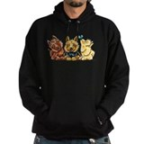 Black and tan norwich terrier Hoodie (dark)
