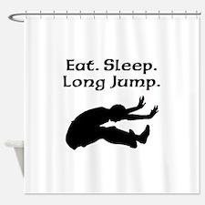 Eat Sleep Long Jump Shower Curtain