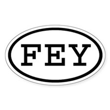FEY Oval Oval Decal