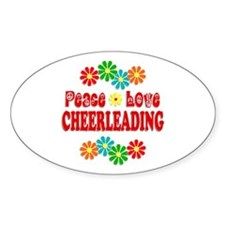 Peace Love Cheerleading Decal