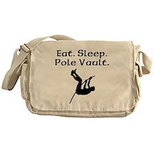 Eat Sleep Pole Vault Messenger Bag