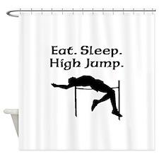 Eat Sleep High Jump Shower Curtain