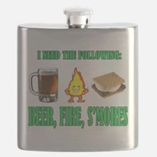 Beer Fire Smores Flask