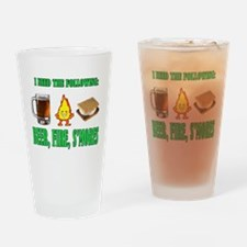 Beer Fire Smores Drinking Glass
