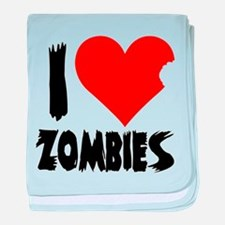 I Heart Zombies baby blanket