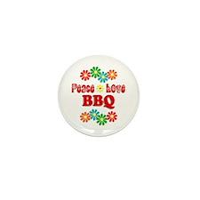 Peace Love BBQ Mini Button (10 pack)