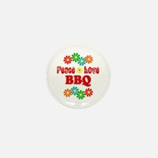 Peace Love BBQ Mini Button (100 pack)