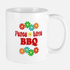 Peace Love BBQ Mug
