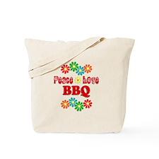 Peace Love BBQ Tote Bag