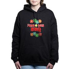 Peace Love BBQ Women's Hooded Sweatshirt