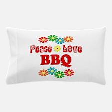Peace Love BBQ Pillow Case