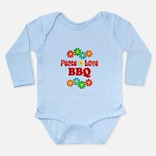 Peace Love BBQ Long Sleeve Infant Bodysuit