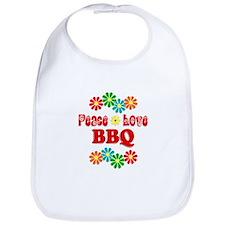 Peace Love BBQ Bib