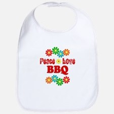 Peace Love BBQ Bib