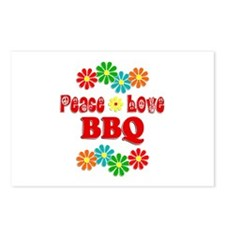 Peace Love BBQ Postcards (Package of 8)