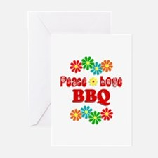 Peace Love BBQ Greeting Cards (Pk of 10)
