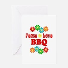 Peace Love BBQ Greeting Card
