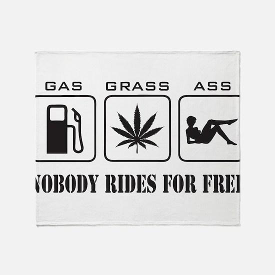 No Free Rides Throw Blanket