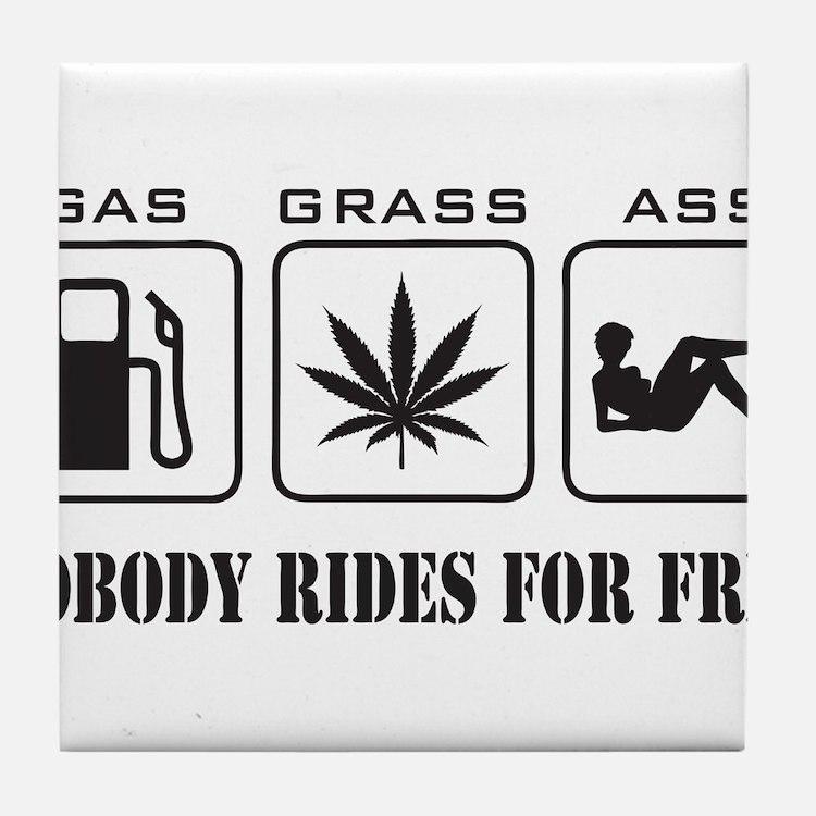 No Free Rides Tile Coaster