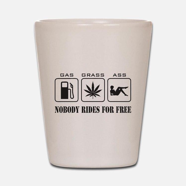 No Free Rides Shot Glass