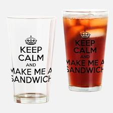 Keep Calm Sandwich Drinking Glass
