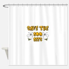 Save the Boo Bees Shower Curtain