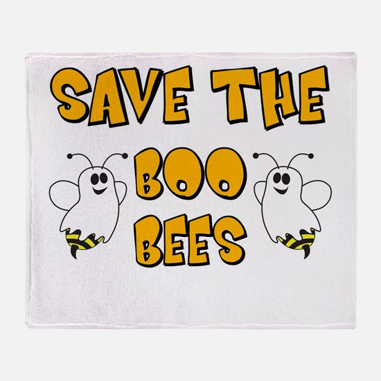 Save the Boo Bees Throw Blanket
