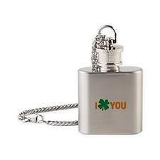 I St Patricks Day You Flask Necklace